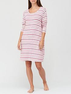 v-by-very-long-sleeve-nightdress-pink-stripe