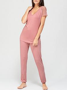 v-by-very-lace-sleeve-t-shirt-pyjamas-blush