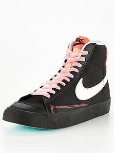 nike-blazer-mid-77-junior-black-white