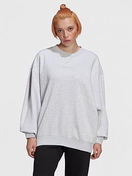 Adidas Originals Oversized Sweater - Grey, Grey, Size 12, Women