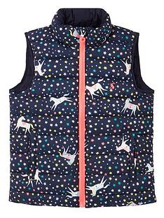 joules-girls-unicorn-reversible-gilet-navy