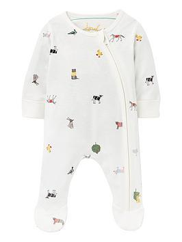 joules-baby-unisex-farm-print-zip-babygrow-white