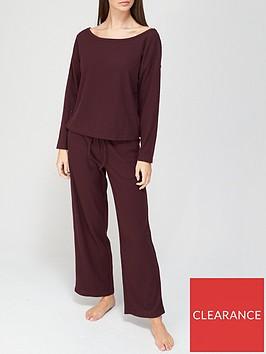 v-by-very-ribbed-wide-leg-pyjamas-plum