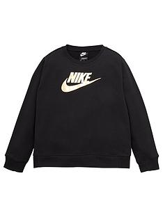 nike-girls-nsw-shine-crew-q5-topnbsp--black
