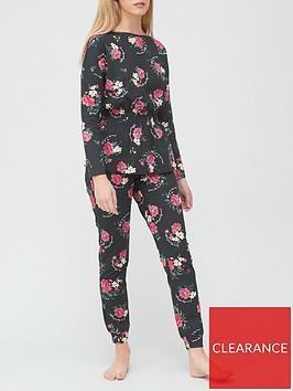 v-by-very-waisted-top-pyjamas-blackfloral