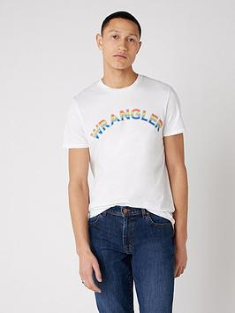 wrangler-rainbow-logo-t-shirt-white