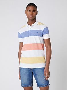 wrangler-block-stripe-polo-shirt-white