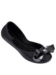 zaxy-start-ribbon-bow-ballerina-black