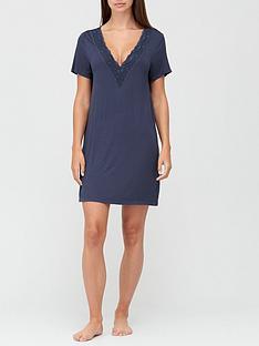 v-by-very-lace-trim-nightdress-blue