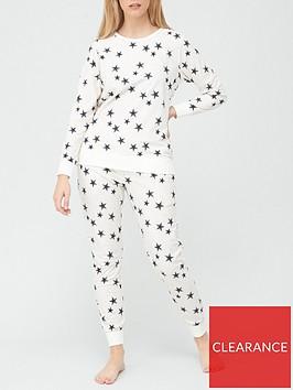 v-by-very-christmasnbspfleece-pyjamas-star-print