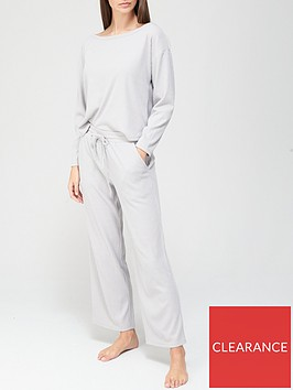 v-by-very-ribbed-wide-leg-pyjamas-grey-marl