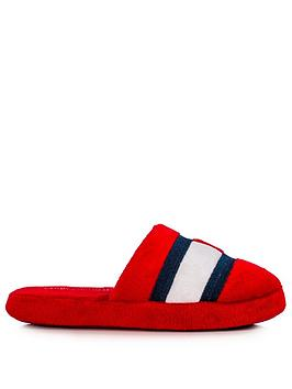 tommy-hilfiger-childrensnbspflag-logo-slippers-red
