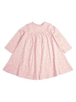 mamas-papas-baby-girls-printed-long-sleeve-dress-pink
