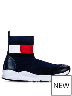 tommy-hilfiger-childrensnbspsock-boot-trainers-navy
