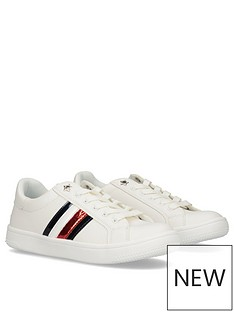 tommy-hilfiger-girls-metallic-flag-lace-up-trainers-white