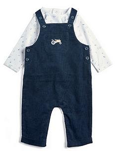 mamas-papas-baby-boys-two-piece-cord-dungaree-amp-tee-set-blue