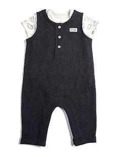 mamas-papas-baby-boys-dungaree-with-cloud-bodysuit-black