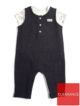 mamas-papas-baby-boys-dungaree-with-cloud-bodysuit-black