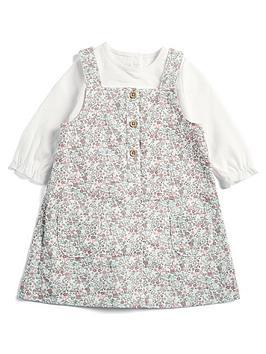 mamas-papas-baby-girls-floral-printed-pinny-top-multi