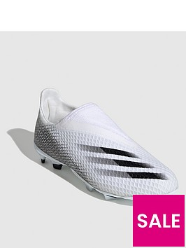 adidas-junior-x-laceless-ghosted3-firm-ground-football-boot-white