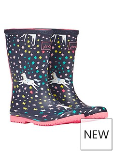 joules-girls-unicorn-roll-up-wellies-navy
