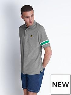 lyle-scott-rib-insert-polo-shirt-greymarl