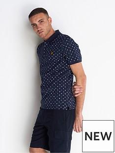 lyle-scott-flag-print-polo-shirt-navy