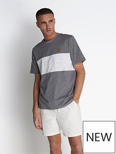 lyle-scott-colourblock-t-shirt-with-embroidered-logo-greymarlnbsp