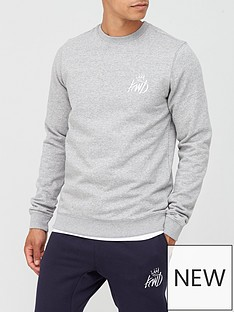 kings-will-dream-crosby-sweat-top-grey-marl