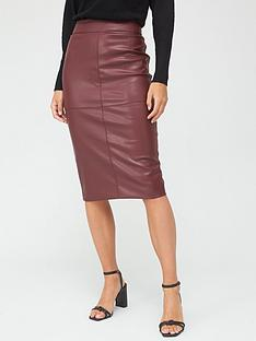 v-by-very-pu-midi-skirt-burgundy