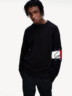 tommy-hilfiger-signature-flag-sweatshirt-black