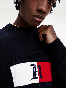 tommy-hilfiger-box-ribbed-knitted-jumper-black