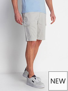 lyle-scott-cargo-shorts-grey