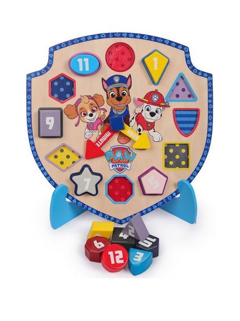 paw-patrol-wooden-puzzle-clock