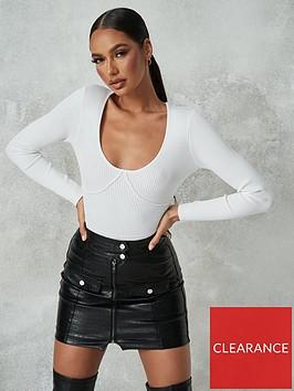 missguided-missguided-croc-pocket-detail-mini-skirt-black
