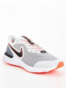nike-revolution-5-trainers-greyred