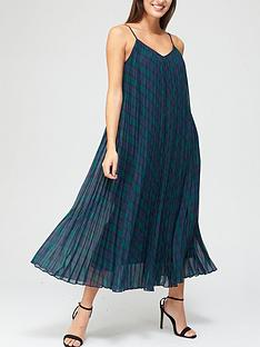 tommy-hilfiger-icon-tartan-midi-slip-dress-navy