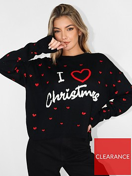 missguided-missguided-i-heart-christmas-jumper-navy