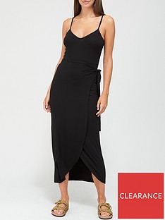 v-by-very-jersey-wrap-midi-dress-black