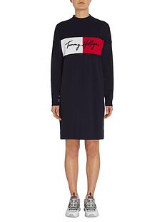 tommy-hilfiger-knitted-dress-navy
