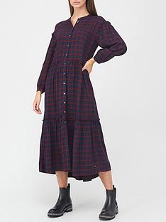 tommy-hilfiger-tartan-button-down-tiered-smock-dress-red