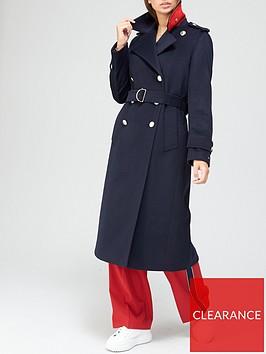tommy-hilfiger-heavy-wool-blend-coat-navy