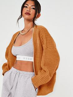 missguided-missguided-batwing-oversized-cardigan-orange