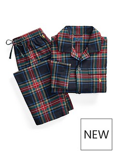 polo-ralph-lauren-flannel-sleepwear-lounge-set-multi