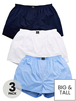 polo-ralph-lauren-big-amp-tallnbsp3-pack-woven-boxers-whitebluenavy