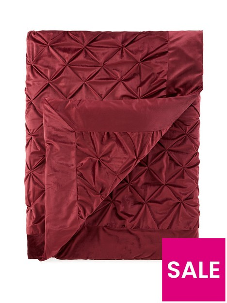 pintuck-velvet-bedspread