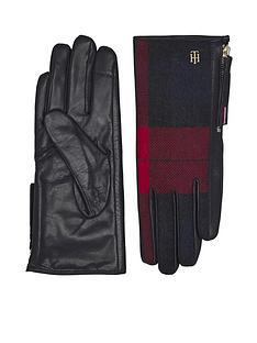 tommy-hilfiger-wool-mix-gloves--nbspcheck