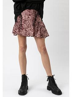 religion-affection-animal-print-skirt-pink