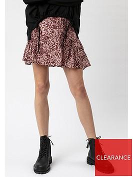 religion-affection-animal-print-skirt-pink