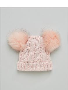 v-by-very-baby-double-pom-beanie-pale-pink